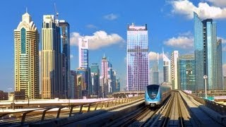 UAE Dubai City Metro in HD, very long - most of the route 2013! High definition 1080p, 1920x1080