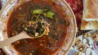 Lentil Purslane Soup Recipe - Armenian Cuisine - Heghineh Cooking Show