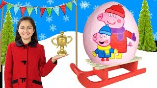 Peppa Pig - Peppa's Snow Day & Skiing with Peppa🎄 Peppa Pig Full Episodes Christmas 2017 videos