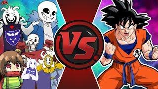 UNDERTALE vs GOKU! (Chara vs Goku, Asriel Dreemurr V Goku, Sans vs Goku, & More) Undertale Animation