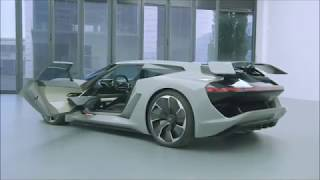 Audi PB18 e tron 765 HP   Next Gen Audi Electric Supercar   sliding driver seat   Audi car videos