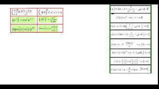 مشتقة الدالة الاسية و اللوغاريتمية 37 مثالا ( الواردة في الباك السابقة)