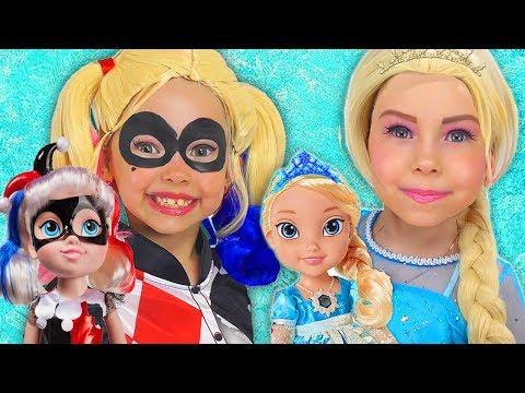 Xxx Mp4 Kids Makeup Super Hero Girls With Disney Princesses Pretend Play BABYSITTING Baby Doll Girls Toys 3gp Sex