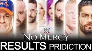WWE NO MERCY 2017 RESULTS PRIDICTIONS!!