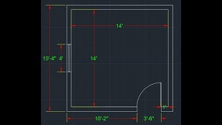 How to Draw Simple 2D Room Plan in AutoCAD