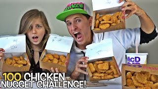 EPIC 100 CHICKEN NUGGET CHALLENGE!!