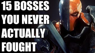15 Video Game Bosses You Never Actually Fought