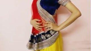 How To Wear Lehanga Saree:Drape Lehngha Saree Style/Lehenga Sari