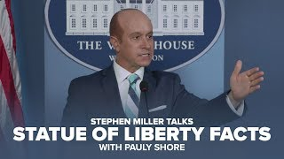 Stephen Miller Talks Statue of Liberty Facts (with Pauly Shore)