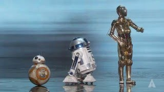 Star Wars droids at the Oscars