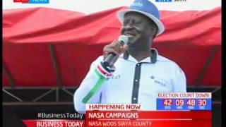 Raila Odinga leads ODM campaigns of Siaya County
