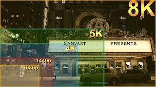 1080p vs 1440p vs 4K vs 5K vs 8K Resolutions Visual Comparison Titan X Pascal SLI