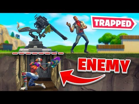 We Trapped Enemies PERMANENTLY Underground In Fortnite