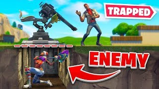 We Trapped Enemies *PERMANENTLY* Underground In Fortnite!