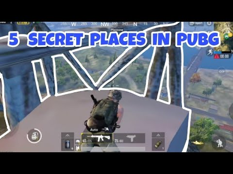 Best🔥🔥 5 HIDDEN PLACES IN⚡ PUBG⚡ MOBILE 0.7.0🔥🔥by TECHLEGENDS YT new tricks 2018