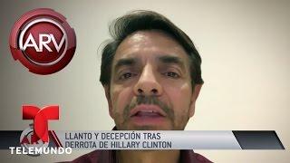 Artistas reaccionan ante derrota de Clinton | Al Rojo Vivo | Telemundo