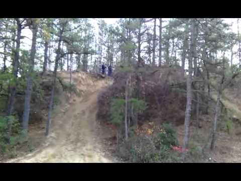 TW200 Riding Around a NJ Pine Barrens Sand Pit