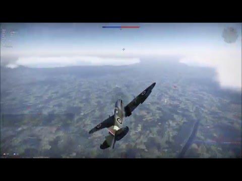 War Thunder - RB Gameplay - Spitfire Mk 18E