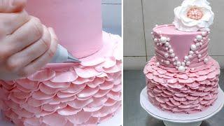 Buttercream Ruffle Cake Decoration Idea - How To by CakesStepbyStep