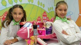 Ah Cici Kız hava yolları - Barbie #uçakoyunu. Polen ve Jazmin ile hostes oyunu