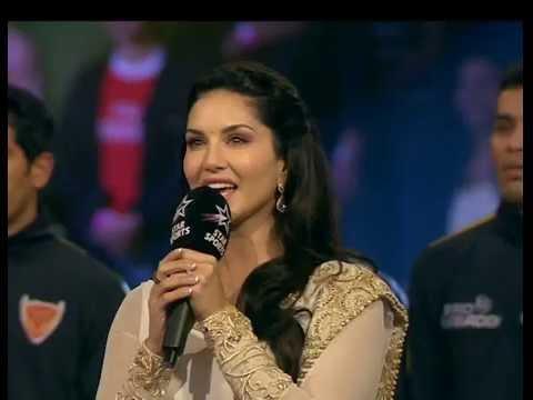 Xxx Mp4 Sunny Leone Singing National Anthem At Pro Kabaddi 2016 3gp Sex