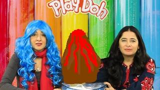 Edible Playdoh Challenge كيفية صنع البلاي دو مع عروب صبح من قناة وقت الفرح وتحدي بركاني كبير