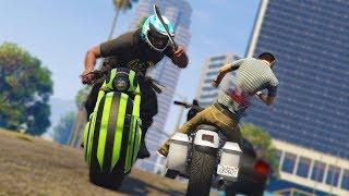 I'M IN TEARS! *MOTORCYCLE MELEE TROLLING!*   GTA 5 THUG LIFE #135