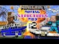 Download Video MINECRAFT MOVING STRUCTURES! Bus, Boat, Plane, Movie Theater | Instant Massive Structures 2 Mod 3GP MP4 FLV