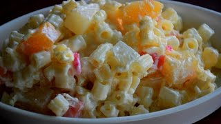Rich and creamy macaroni-fruit salad : PINAYs' EASY RECIPE
