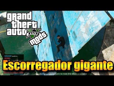 GTA V Online com MODS: O TOBOÁGUA GIGANTE! Mapa do #3PIC!