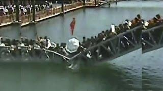 Decenas de personas caen al agua tras derrumbarse el puente por el que caminaban - Exclusivo Online