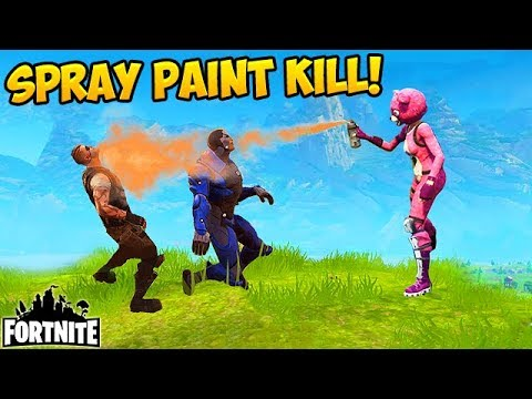 Killing Players With SPRAY PAINT Fortnite Funny Fails and WTF Moments 194 Daily Moments