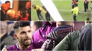 Man City:  Beautiful football... UGLY scenes against Wigan  (Footage)