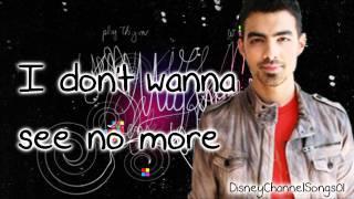 Joe Jonas - See No More With Lyrics