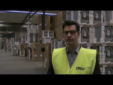 DSV-lokation fokuserer på logistik af hårde hvidevarer