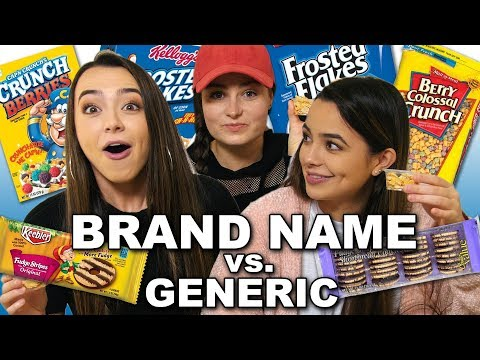 Brand Name vs Generic Challenge Merrell Twins ft. Molly Burke