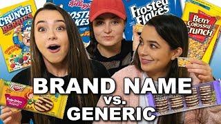 Brand Name vs Generic Challenge - Merrell Twins ft. Molly Burke