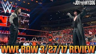 WWE Raw 3/27/17 Review Results & Reactions: Wrestlemania 33 GO HOME SHOW, Zayn vs Owens NO DQ Match