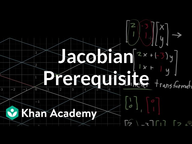 Jacobian prerequisite knowledge