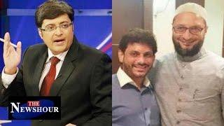 Asaduddin Owaisi Refuses To Say  Bharat Mata Ki Jai : The Newshour Debate (16th March 2016)