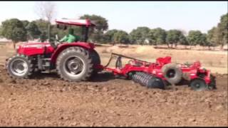 Massey Ferguson 2635 75 hp International Tractor in India With Disc Harrow And 3mb Reversible Plough
