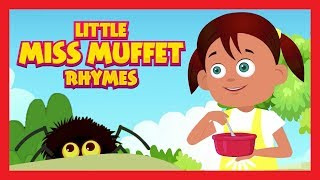 Little Miss Muffet Rhymes For Kids In English - Animated Rhymes || Kids Hut Rhymes - One Hour Plus