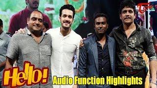 Hello Telugu Movie Audio Function Highlights | Akkineni Nagarjuna, Akhil, Kalyani Priyadarshan