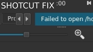 Shotcut: Failed to open... SOLVED