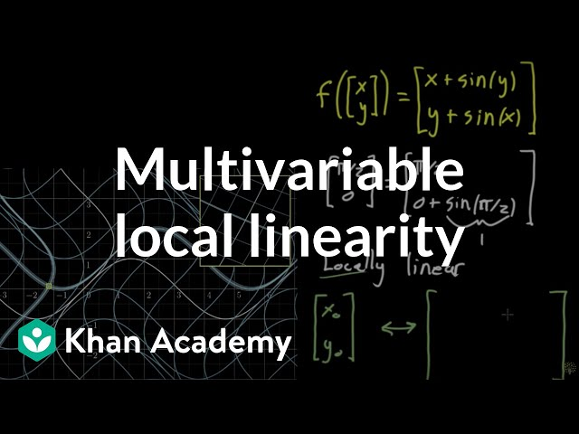 Local linearity for a multivariable function