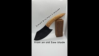 DIY | Knife Making | Small Kitchen Cleaver from old Saw Blade | Messerbau