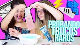 PROBANDO TRUCOS RAROS de INTERNET | Rachel Tisdale
