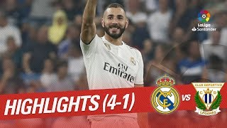 Resumen de Real Madrid vs CD Leganés (4-1)