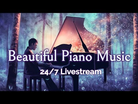 🔴Beautiful Piano Music LIVE 24 7 Instrumental Music for Relaxation Study Stress Relief