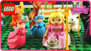 ♥ LEGO Disney Princess Aurora Royal Spring Cleaning STOP MOTION